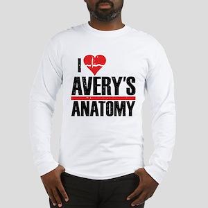 I Heart Avery's Anatomy Long Sleeve T-Shirt
