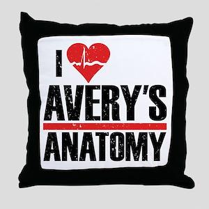 I Heart Avery's Anatomy Throw Pillow