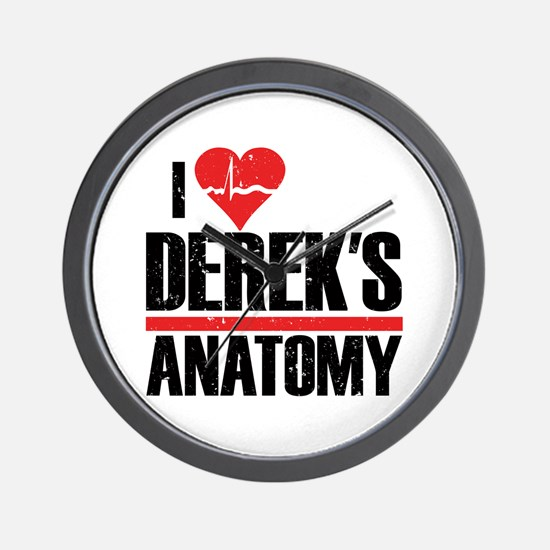 I Heart Derek's Anatomy Wall Clock
