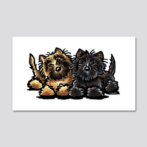 Cairn Terriers 22x14 Wall Peel