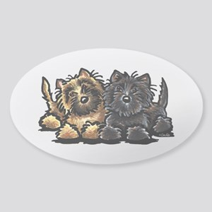 Cairn Terriers Sticker (Oval)