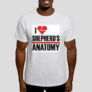 I Heart Shepherd's Anatomy Light T-Shirt