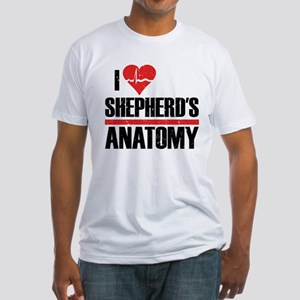 I Heart Shepherd's Anatomy Fitted T-Shirt