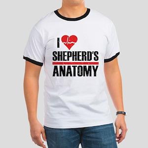 I Heart Shepherd's Anatomy Ringer T-Shirt