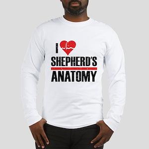 I Heart Shepherd's Anatomy Long Sleeve T-Shirt