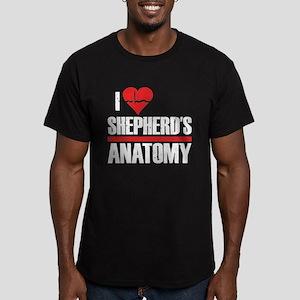 I Heart Shepherd's Anatomy Men's Dark Fitted T-Shi