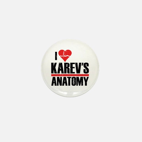I Heart Karev's Anatomy Mini Button