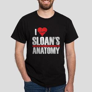 I Heart Sloan's Anatomy Dark T-Shirt