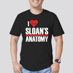I Heart Sloan's Anatomy Men's Dark Fitted T-Shirt