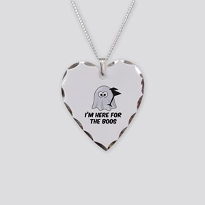 I'm here for the BOOS Necklace Heart Charm
