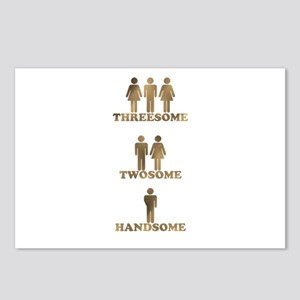 Threesome - Twosome - Handsome Postcards (Package