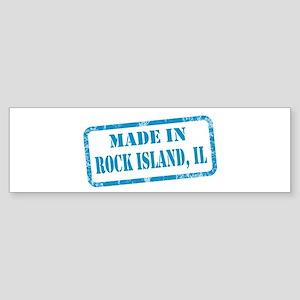 MADE IN ROCK ISLAND, IL Sticker (Bumper)