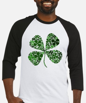 Lucky 4 Leaf Clover Irish Baseball Jersey