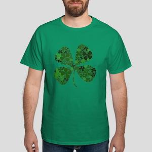 Lucky 4 Leaf Clover Irish Dark T-Shirt