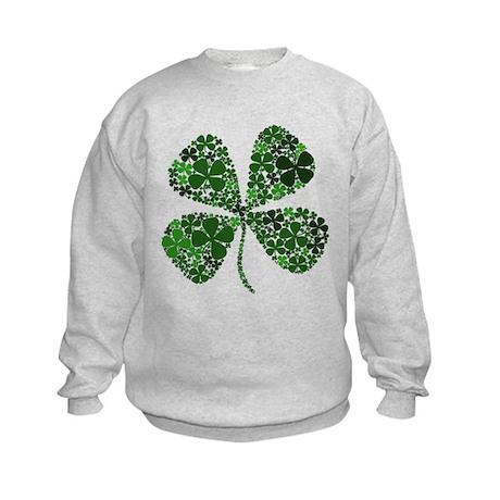 Lucky 4 Leaf Clover Irish Kids Sweatshirt