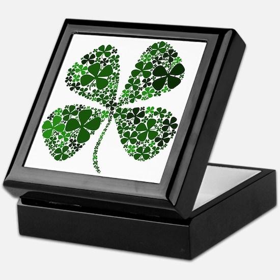 Lucky 4 Leaf Clover Irish Keepsake Box