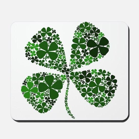 Lucky 4 Leaf Clover Irish Mousepad