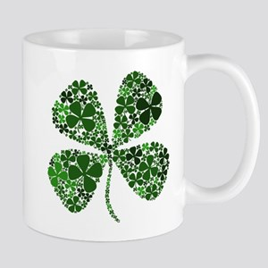 Lucky 4 Leaf Clover Irish Mug