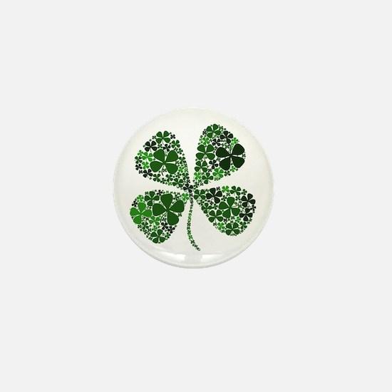 Lucky 4 Leaf Clover Irish Mini Button