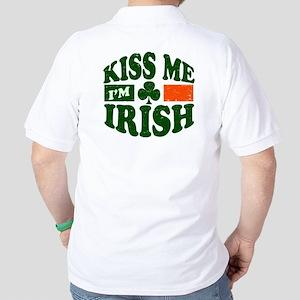 Kiss Me Im Irish Golf Shirt
