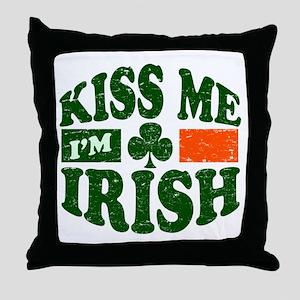 Kiss Me Im Irish Throw Pillow