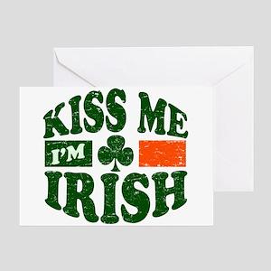 Kiss Me Im Irish Greeting Card