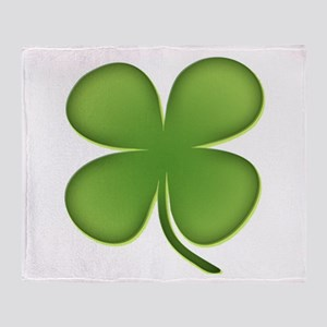 Lucky Irish Four Leaf Clover Throw Blanket