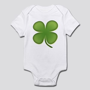 Lucky Irish Four Leaf Clover Infant Bodysuit