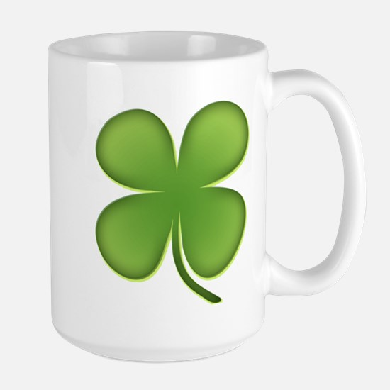 Lucky Irish Four Leaf Clover Large Mug