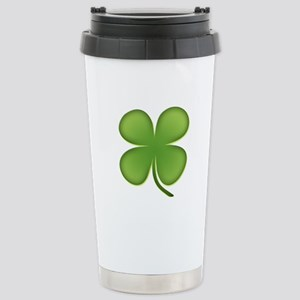 Lucky Irish Four Leaf Clover Stainless Steel Trave