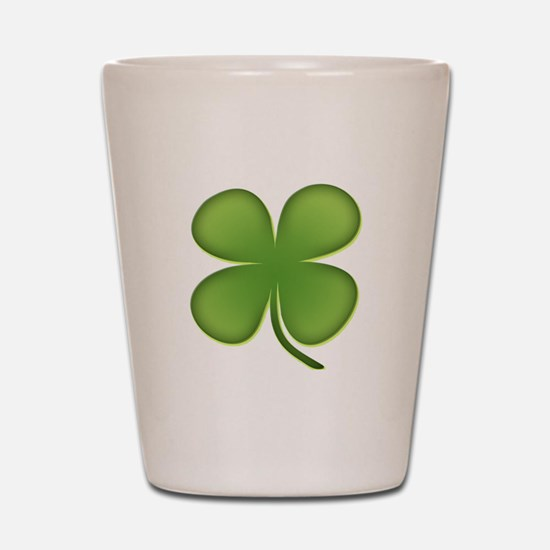 Lucky Irish Four Leaf Clover Shot Glass