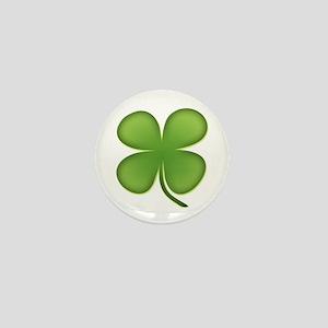 Lucky Irish Four Leaf Clover Mini Button
