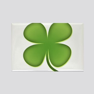 Lucky Irish Four Leaf Clover Rectangle Magnet