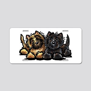 Cairn Terriers Aluminum License Plate