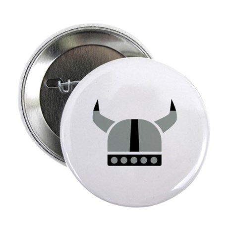 "Viking helmet 2.25"" Button (10 pack)"