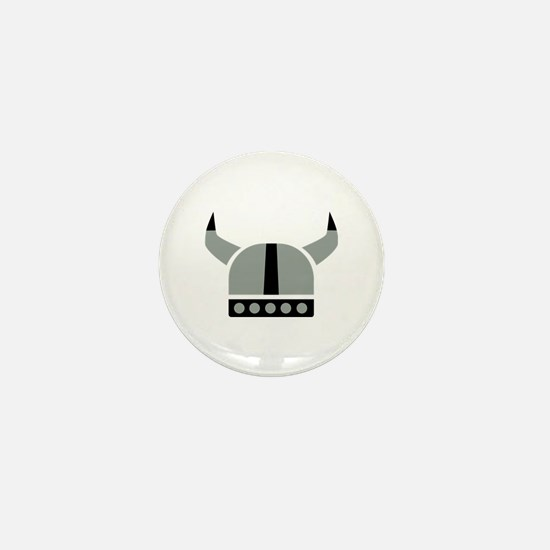 Viking helmet Mini Button