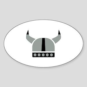 Viking helmet Sticker (Oval)