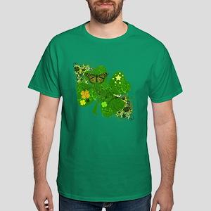 Lucky Irish Four Leaf Clover Dark T-Shirt