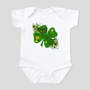 Lucky Irish Four Leaf Clover Infant Bodysuit