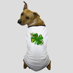 Lucky Irish Four Leaf Clover Dog T-Shirt