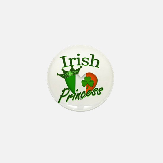 Irish Princess St Patricks Day Mini Button