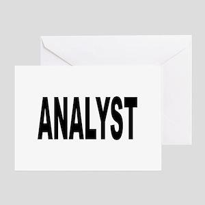 Analyst Greeting Card