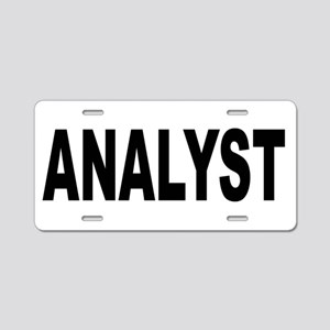 Analyst Aluminum License Plate