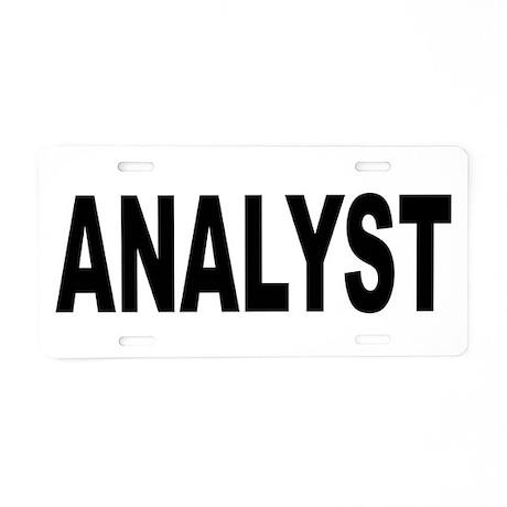 Analyst Aluminum License Plate