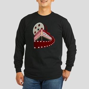 theater cinema film Long Sleeve Dark T-Shirt