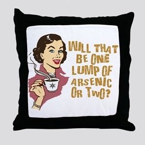 Funny Retro Coffee Humor Throw Pillow