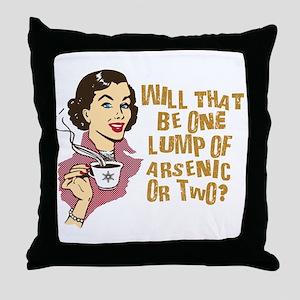 Funny Retro Coffee Humor Throw Pillow