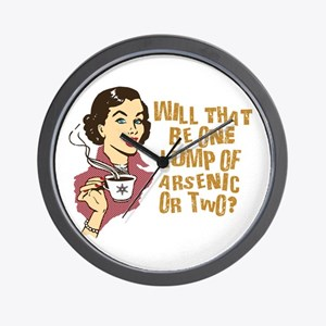 Funny Retro Coffee Humor Wall Clock