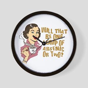 Funny Retro Coffee Humor Wall Clock