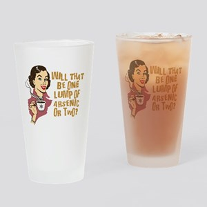 Funny Retro Coffee Humor Drinking Glass